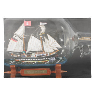 Digging ship Topsegelschoner of 4 litres of bottle Placemat