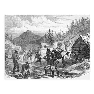Diggings del oro de Gregory, Colorado Tarjetas Postales
