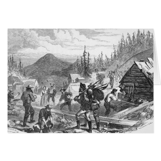 Diggings del oro de Gregory, Colorado Tarjetón