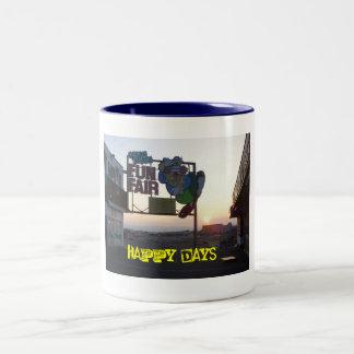digi cam june 2009 171, Fun Fair-zazzle, Happy ... Two-Tone Coffee Mug
