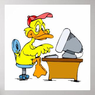 Digi Duck Poster