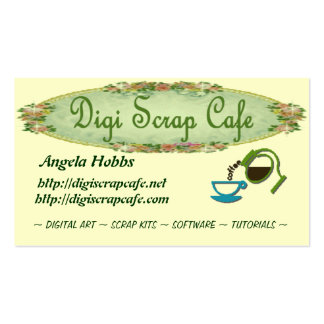 Digi Scrap Cafe Calling Cards Double-Sided Standard Business Cards (Pack Of 100)