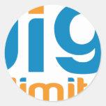 Digi Unlimited Classic Round Sticker
