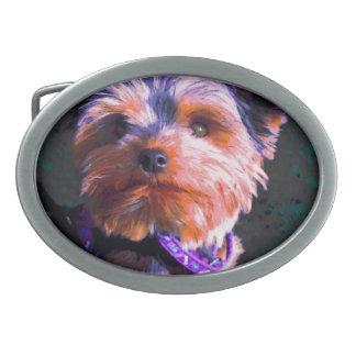 Digially coloreó Terrier Hebilla Cinturon