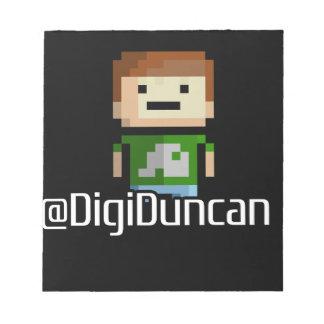 DigiDuncan Avatar (Dark) Notepad
