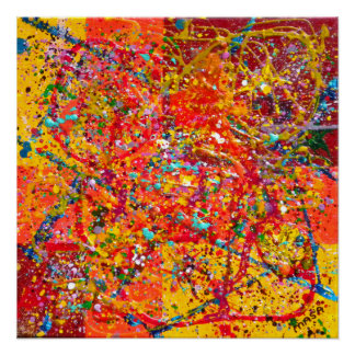 Digiri Doozie 5 Abstract Art Perfect Poster