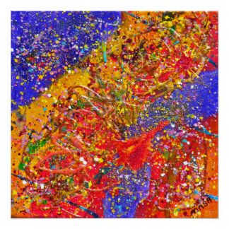 Digiri Doozie 6 Abstract Art Perfect Poster