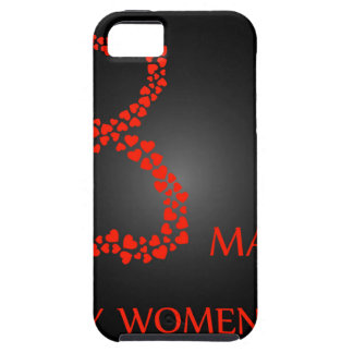Digit 8 with red hearts- international womens day iPhone SE/5/5s case