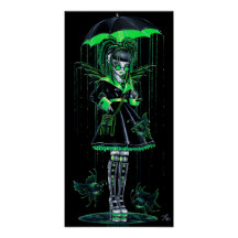 Digit Green Cybergoth Android Fairy Poster