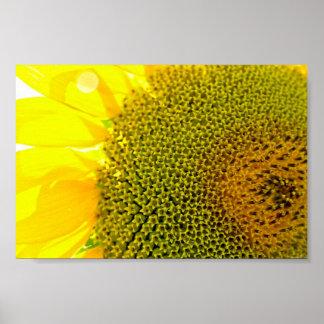 Digita amarillo brillante de la fotografía del póster