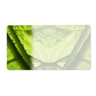 Digitaces frondosas verdes Art Etiquetas De Envío
