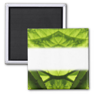 Digitaces frondosas verdes Art. Imán Cuadrado