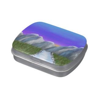 Digitaces Painting_Mountains con el cielo púrpura