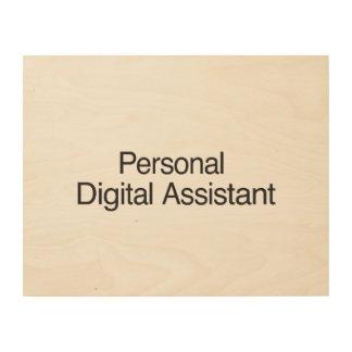 Digitaces personales Assistant.ai Cuadro De Madera