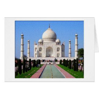 Digitaces que pintan el Taj Mahal Felicitación