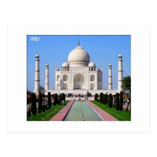 Digitaces que pintan el Taj Mahal Tarjeta Postal