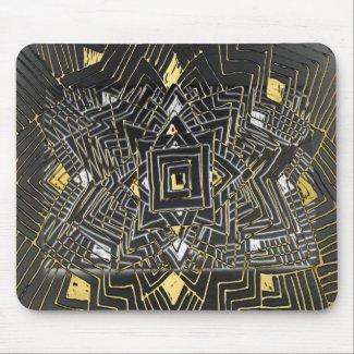 Digital Abstract Art Black Mousepad mousepad
