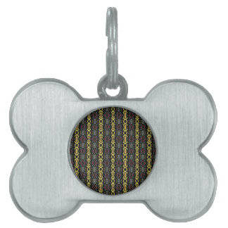 Digital Abstract Art. Imperial Pattern Pet ID Tags