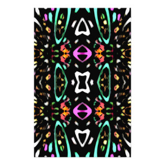 Digital Abstract Art Multicolored Pattern Personalized Stationery