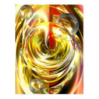 Digital Abstract Art Postcard