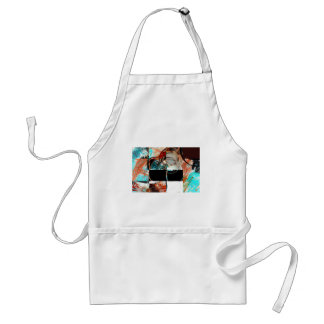 Digital Abstract Artwork Adult Apron