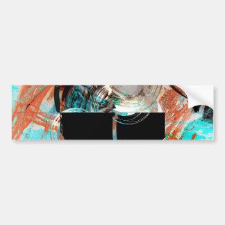 Digital Abstract Artwork Car Bumper Sticker