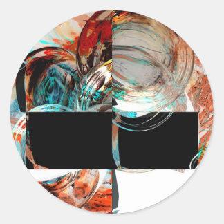 Digital Abstract Artwork Classic Round Sticker