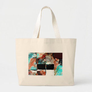 Digital Abstract Artwork Large Tote Bag