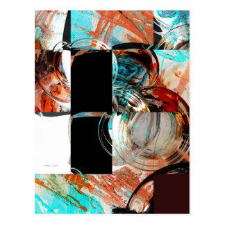 Digital Abstract Artwork Postcard