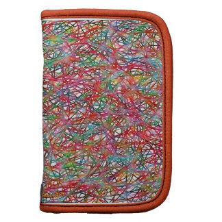 Digital Abstract Colorful Yarn Tangle Organizers