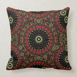 Digital Abstract Geometric Pattern in Warm Colors Pillows