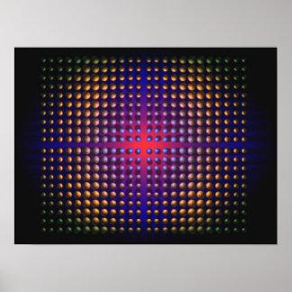 Digital abstract Op-art  Conceptual Magic Poster
