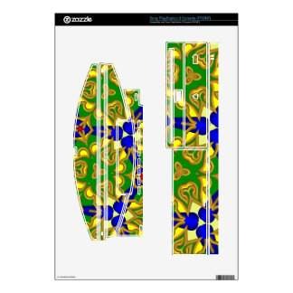 digital abstract pattern decals for PS3 console
