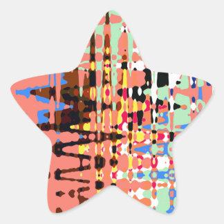Digital abstracto pegatina en forma de estrella