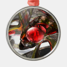 Digital Aftermath Abstract Christmas Ornaments
