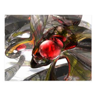 Digital Aftermath Abstract Postcard