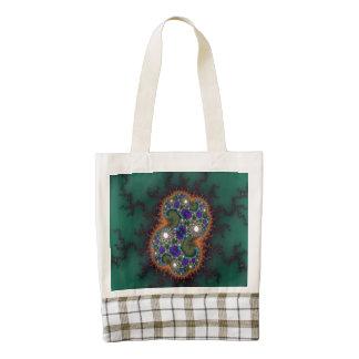 Digital Amoeba Abstract Zazzle HEART Tote Bag