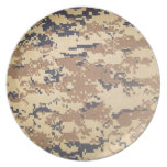 digital army military camouflage pattern gifts party plates