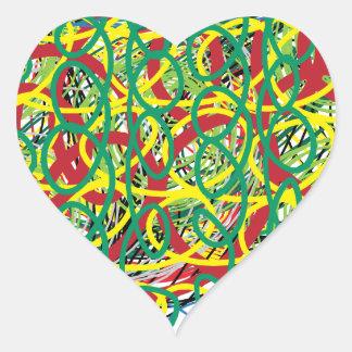 digital art 10 heart sticker