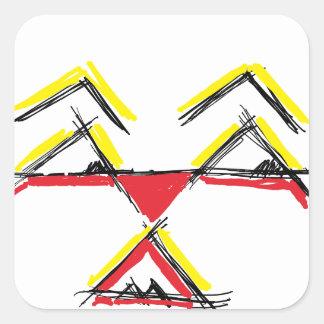 digital art 1501 square sticker