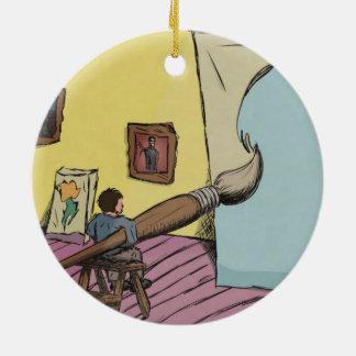 Digital Art - Big Ideas Ceramic Ornament