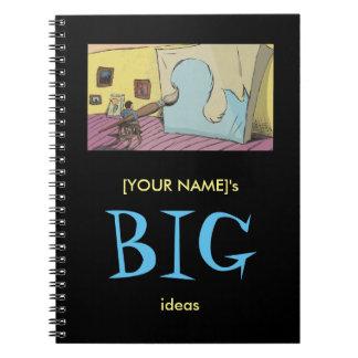 Digital Art - Big Ideas Spiral Notebook