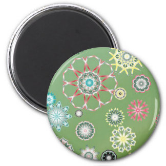 Digital Art Decorate for Electronics 2 Inch Round Magnet