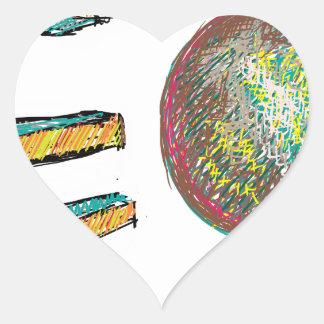 digital art EO 002 Heart Stickers