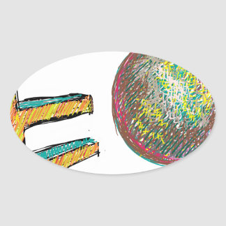 digital art EO 002 Oval Sticker