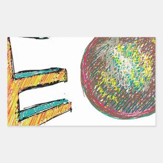digital art EO 002 Rectangular Stickers