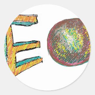 digital art EO 002 Round Stickers