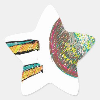 digital art EO 002 Star Sticker