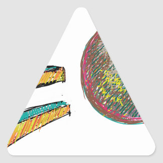 digital art EO 002 Triangle Sticker