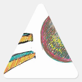 digital art EO Triangle Sticker